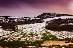 Natural Winter Landscape Stock Photos