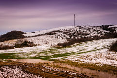 Natural Winter Landscape Royalty Free Stock Photos