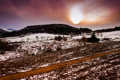 Natural Winter Landscape Stock Photography
