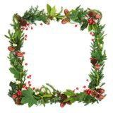 Natural Winter Square Wreath stock photos