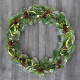 Natural Winter Wreath stock image