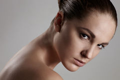 Natural womans beauty b Stock Photos