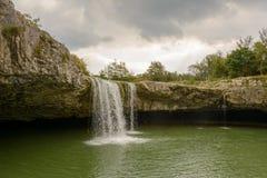 Natural wonder in Istria , Croatia. Waterfall in Istria region , Croatia stock photo