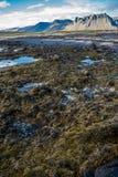 Colourful Icelandic landscape Stock Photography