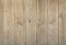 Natural wood boards texture of light brown color. Wooden background royalty free stock image