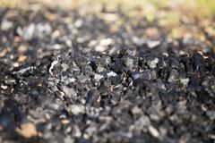 Natural wood charcoal biomass for energy royalty free stock photography