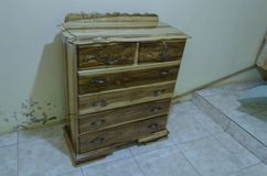 Natural Wood Chester Drawer stock photo
