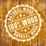 Natural wood icon Royalty Free Stock Images
