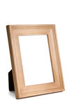 Natural wood picture frame Royalty Free Stock Image