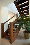 Natural wood staircase Royalty Free Stock Photography