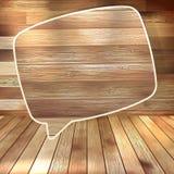Natural wood texture speech bubbles. EPS 10 Stock Photo