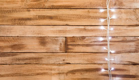 Natural wood textured background with decoration Royalty Free Stock Photo