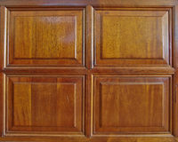 Natural wood wainscot frame Stock Image