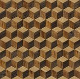 Natural wooden background cube 3d. Grunge parquet flooring design seamless texture Stock Image