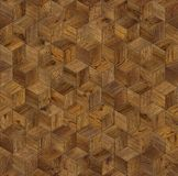 Natural wooden background cube 3d. Grunge parquet flooring design seamless texture Stock Photography