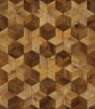 Natural wooden background, grunge parquet flooring design seamless texture. Geometric flower Royalty Free Stock Photos