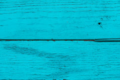 Natural wooden blue, turquoise boards, wall or fence with knots. Abstract textured background. Painted wooden horizontal planks Royalty Free Stock Photos