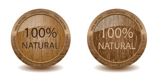 Natural wooden buttons. (2 versions)- vector Royalty Free Stock Image