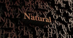 Natural - Wooden 3D rendered letters/message Stock Image