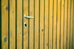Natural Wooden Door Background Stock Photo