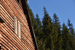 Natural wooden house detail Stock Photo