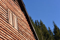 Natural wooden house detail Royalty Free Stock Image