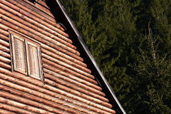 Natural wooden house detail Royalty Free Stock Photo