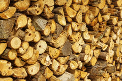 Natural wooden logs Royalty Free Stock Photo