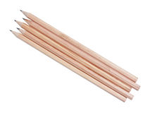 Natural wooden pencils Royalty Free Stock Image