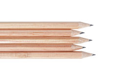 Natural wooden pencils Stock Photo