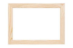 Natural wooden picture frame Stock Photo