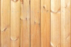 Natural wooden plank panel with screws.  Royalty Free Stock Photo