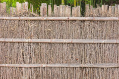 Natural wooden wall of japanese style Stock Images