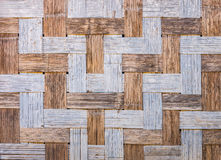 Natural wooden wall is made by bamboo wickerwork Royalty Free Stock Photography