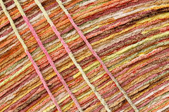 Natural wool fabric with colorful hand made Stock Image