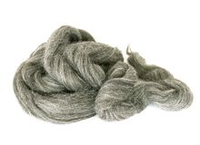 Natural wool isolated on white Royalty Free Stock Photos