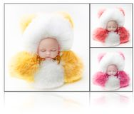 Natural wool Toy doll colours fur Stock Image