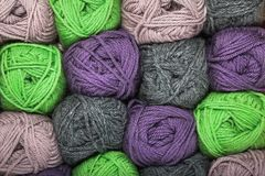 Natural wool yarn Royalty Free Stock Image