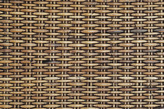 Natural woven rattan background. close up Stock Photography
