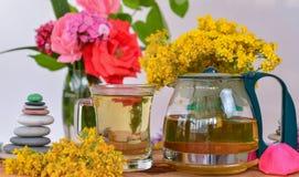 Natural yellow cantabon tea. Herbal tea ;Natural yellow cantabon tea Stock Image