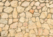Natural yellow pavement stone for floor, wall or path. Royalty Free Stock Photography