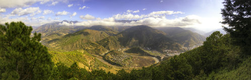 Natural Yin Yang Panoramic Royalty Free Stock Photos