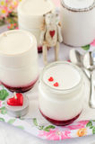 Natural Yoghurt with Raspberry Jam Stock Photo
