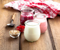 Natural yoghurt Royalty Free Stock Image