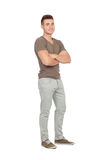 Natural young men with jeans Stock Photo