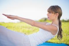 Natural young woman exercising Stock Photography