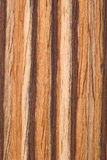 Natural Zebrano veneer Stock Image