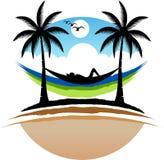 Naturale rilassi il logo fotografia stock