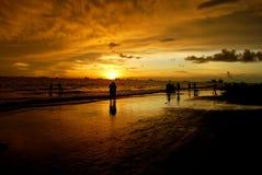 Naturale, tramonto Fotografia Stock Libera da Diritti