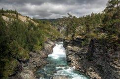 Naturaleza áspera en paisaje noruego Foto de archivo libre de regalías